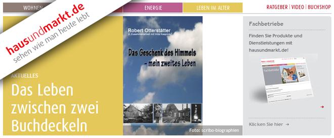 """Bild zeigt einen Screenshot der Webseite """"hausundmarkt.de"""